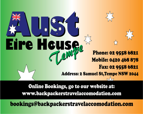 Aust Eire House Tempe - Nambucca Heads Accommodation